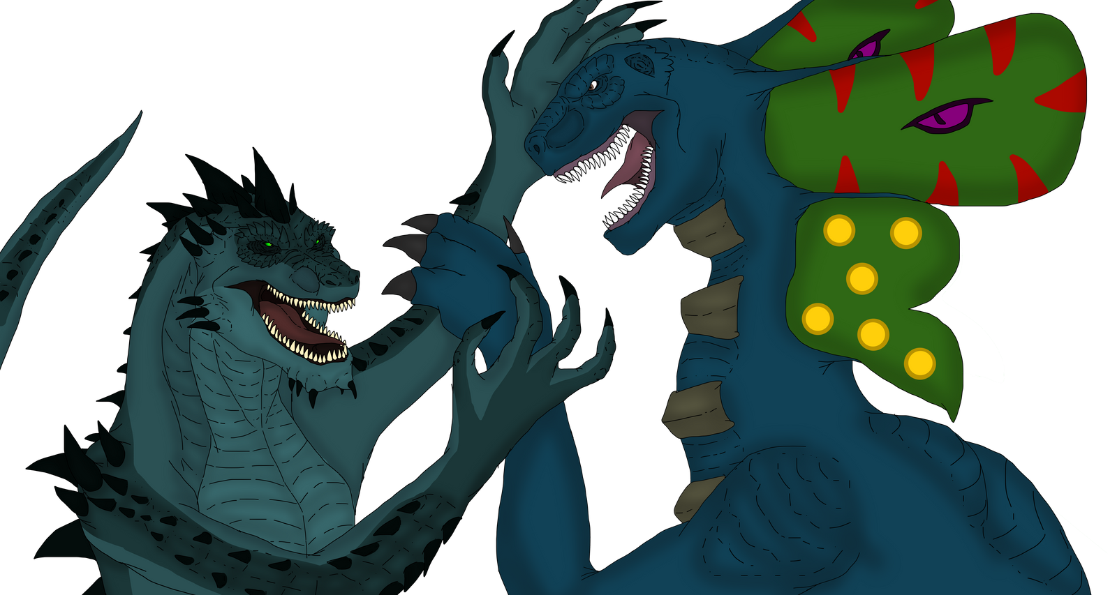 Art trade - Eyepod vs Varmordor by Redspets