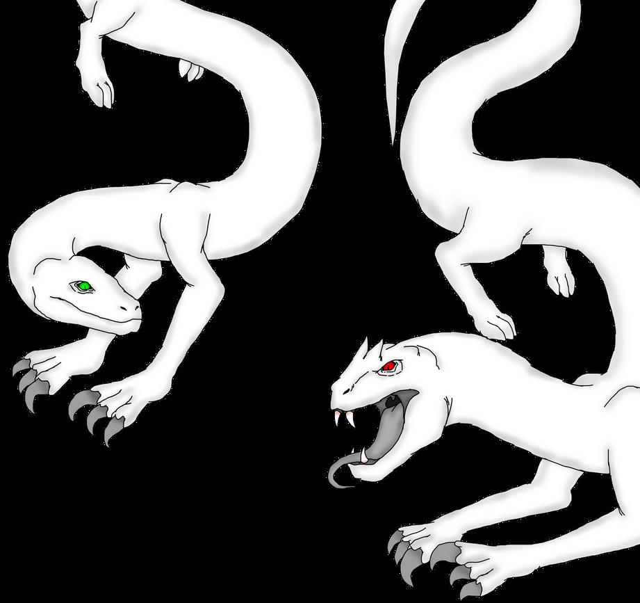 art trade Lamiasaurus and Gorgonosaurus by Redspets