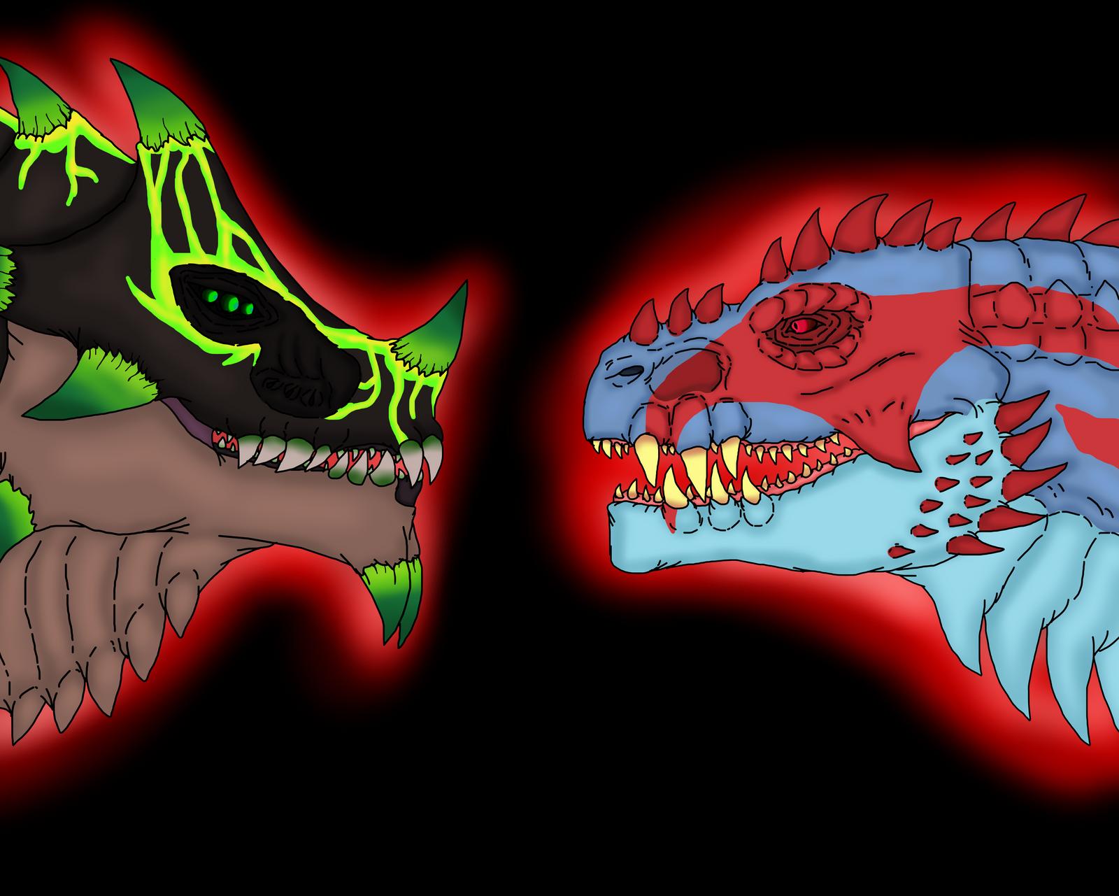 The berserker kaiju and the resurrection kaiju by Redspets