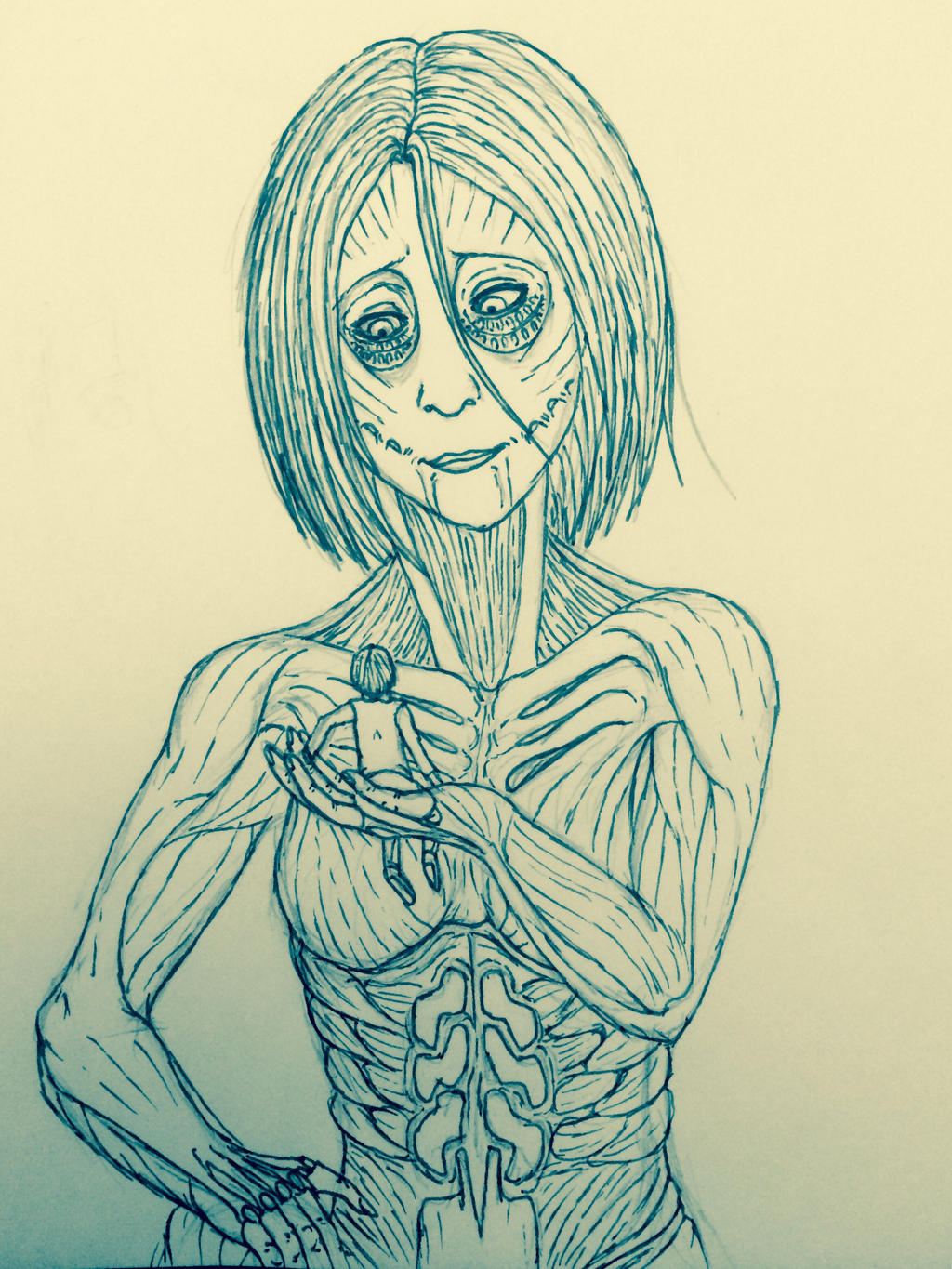 Armin and female titan (old) by Redspets