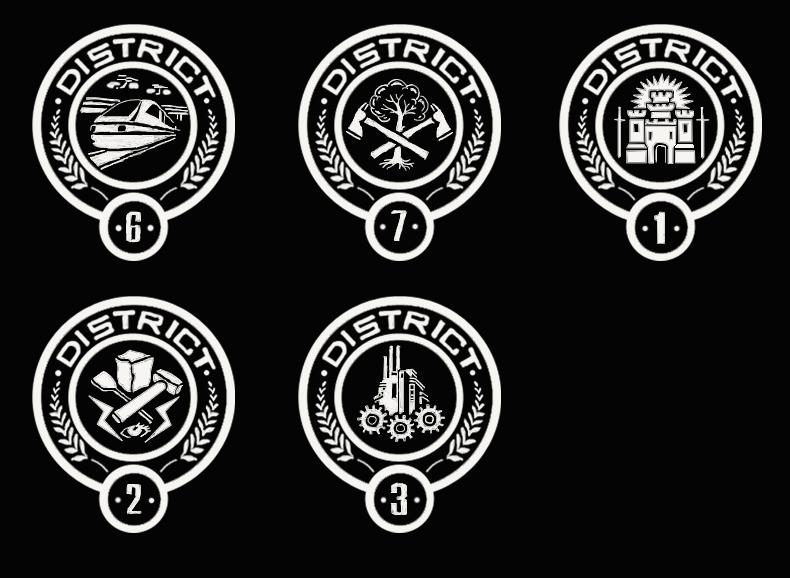 District Logos 1, 2, 3, 6, 7 by kemurai6