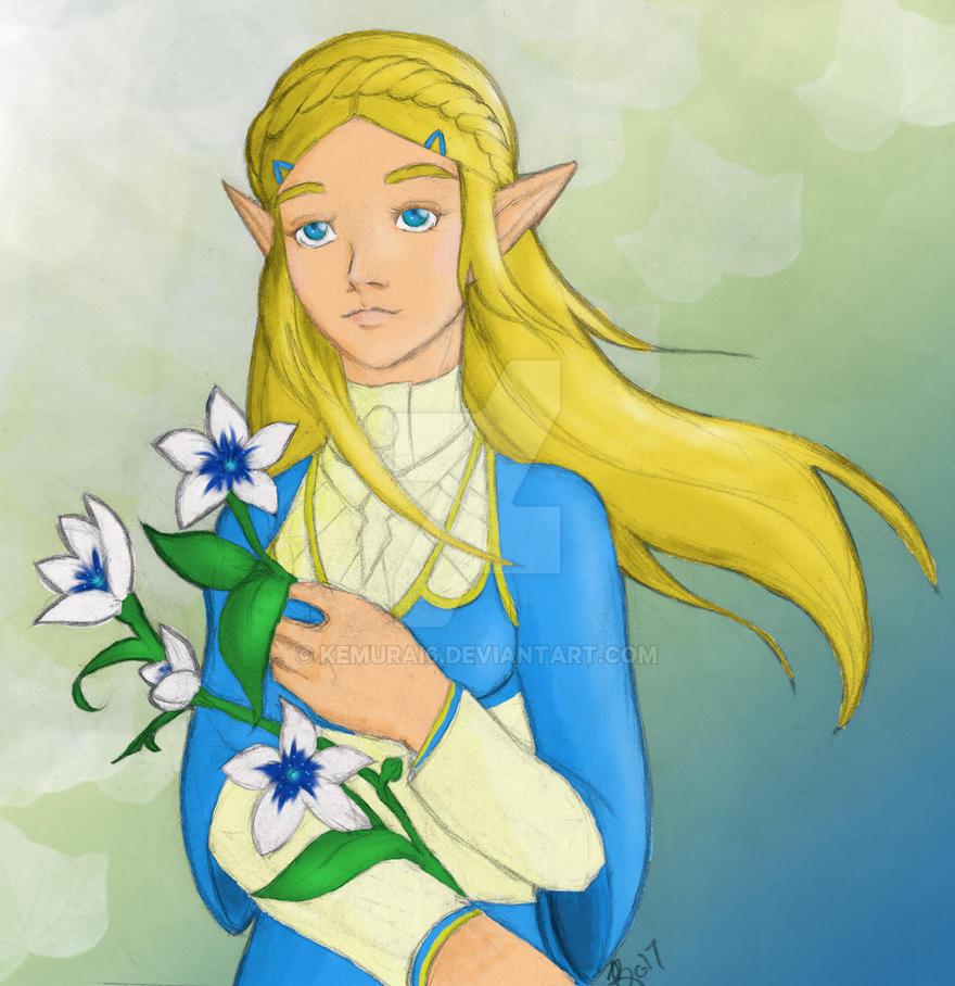 Legend of Zelda: Breath of the Wild - Zelda by kemurai6