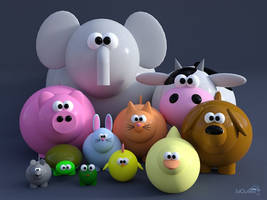 Toon Animals by 3doutlaw