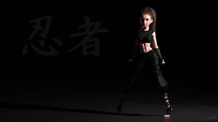 Ninja - Background by 3doutlaw