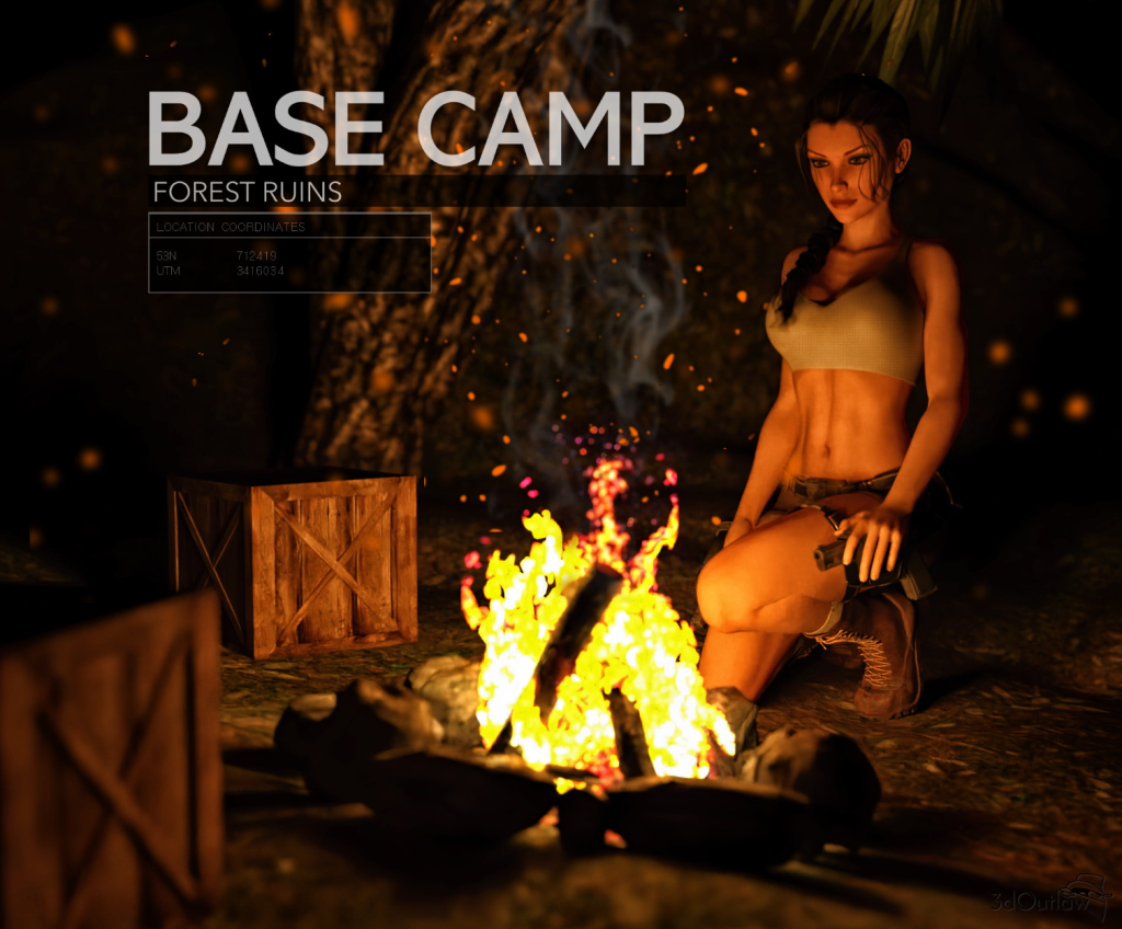 Base Camp - Forest Ruins (animated...sort of)