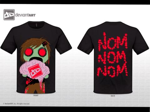NomNom Zombie by cheshirekittykat13