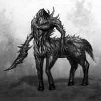 Ancient Centaur Demon by Eemeling