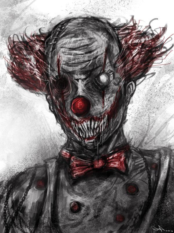 demonic clown by eemeling on deviantart