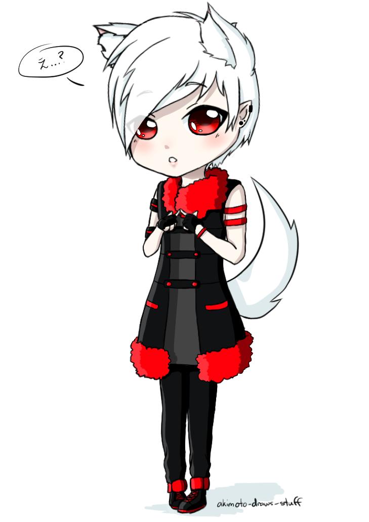 Chibi Wolf-boy By Akimoto-draws-stuff On DeviantArt