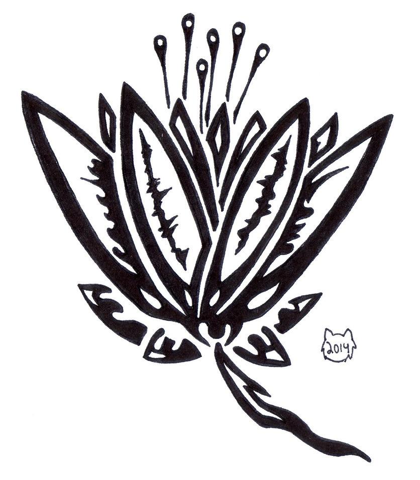 Tribal Lily By Fyra007 On Deviantart