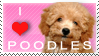 I Love Poodles Stamp by cupcakekitten20