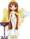 Greek Goddess Pixel Art Doll by Sleepy-Stardust