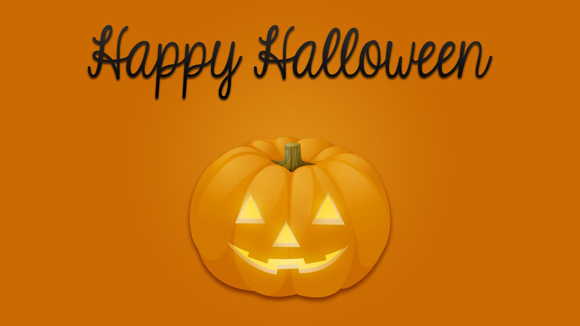 Happy Halloween Pumpkin Wallpaper 1920x1080