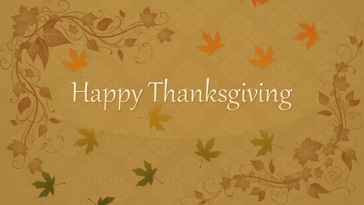 Happy Thanksgiving 1920x1080 Desktop Background by CupcakeyKitten