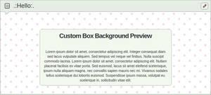 Custom Box Background Light Pink Polka Dots