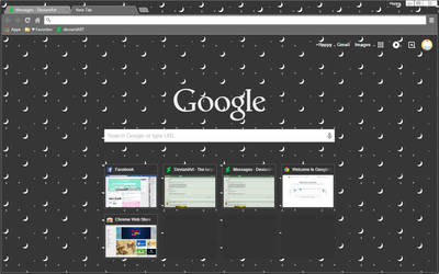 Dark Moon Commission - Google Chrome Theme by Sleepy-Stardust