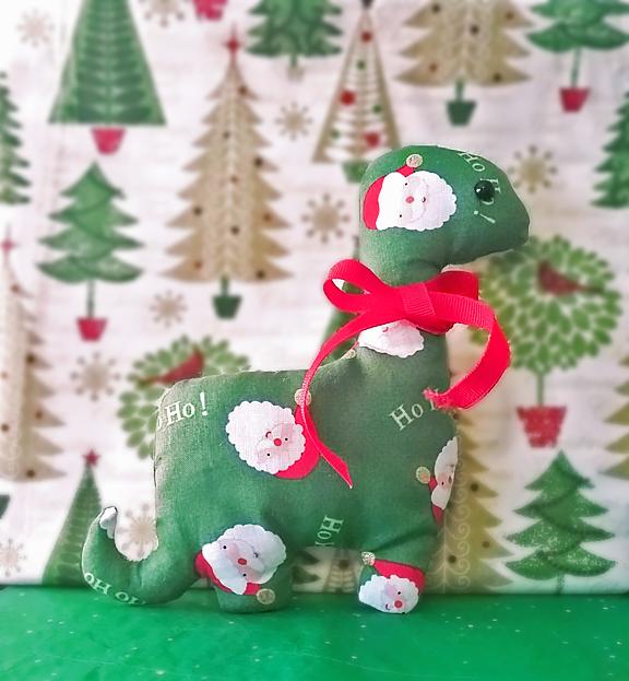 Christmas Dino Plushie - Raffle Prize (CLOSED) by Sleepy-Stardust