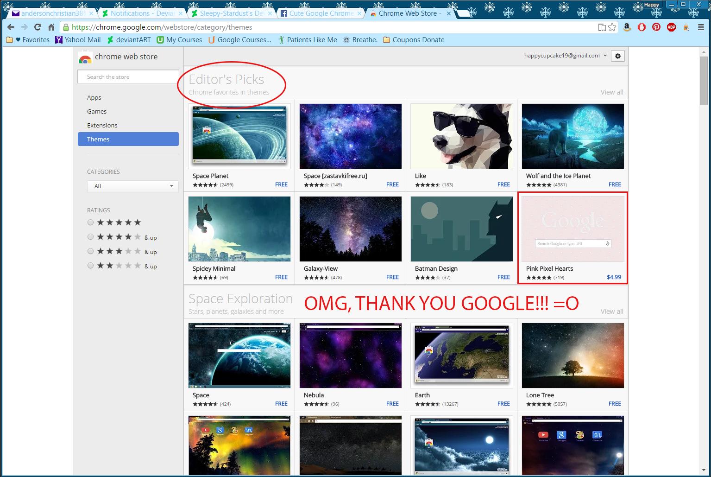 Google themes editor -  Google Loves My Art By Sleepy Stardust