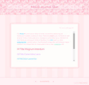 UPDATED Pink Journal Skin Commission for Motaii