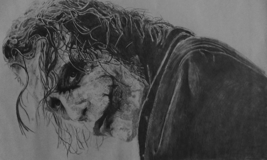 The joker pencil drawing by faludor