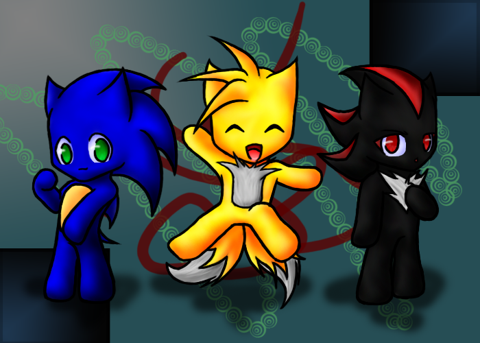 Clichés de Tails  - Page 21 Sonic__Tails_and_Shadow_chibis_by_mephilesthedark
