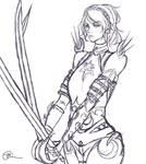 Knight/Paladin Lunafreya Linework