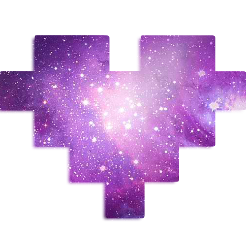 Galaxy PNG Corazon Heart by YselleSwiftie on DeviantArt