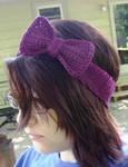 Bow Headband in Grape