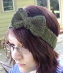Bow Headband in Moss