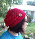 Hipster Hat in Cherry Red