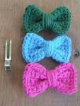 Crochet Bow Hair Clips