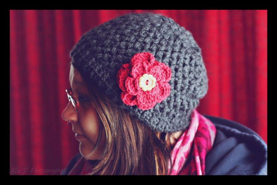 Flower Slouch Hat by LiebeTacos