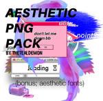 .: Aesthetic Pngs Pack :. by thetealdemon