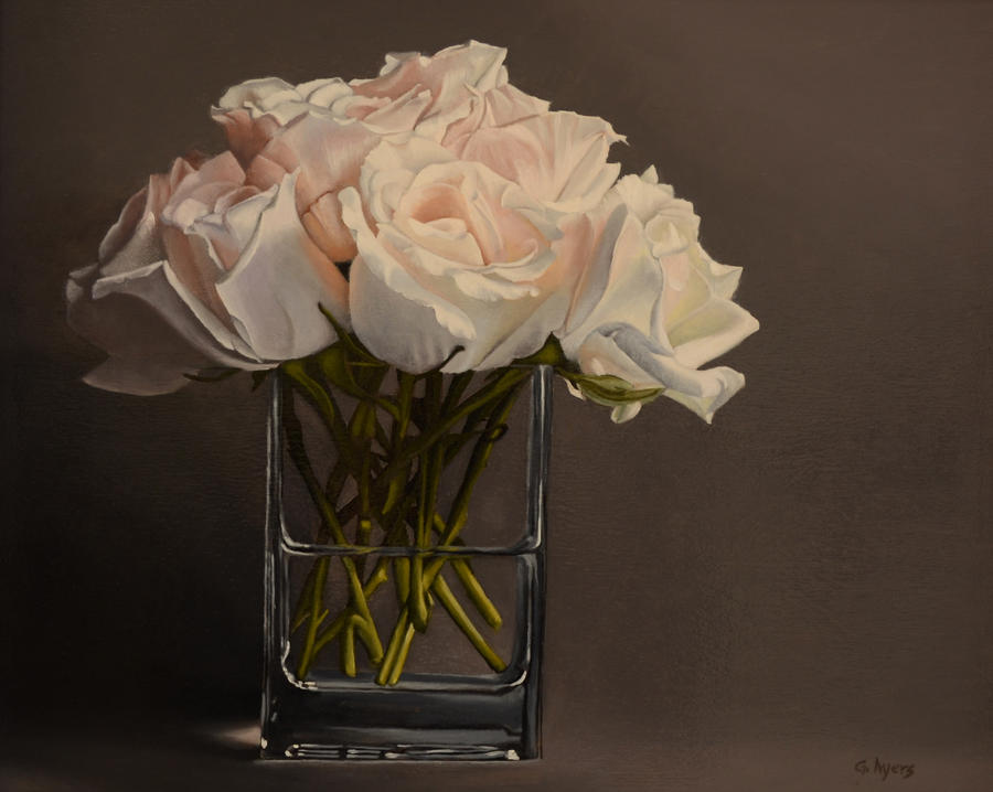 White Roses by georgeayers2000