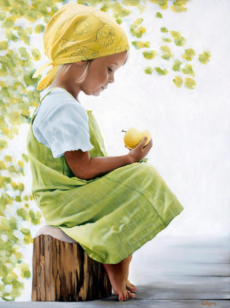 Yellow Apple by georgeayers2000