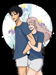 (Haikyuu) Surprise Hug