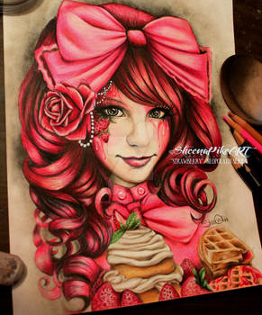 Strawberry - Copyright of SheenaPikeART -