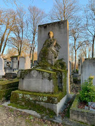 Moss covered tomb and Statue unrestricted by DivsM-stock