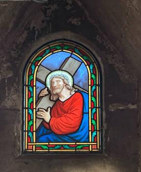 Christ window painting