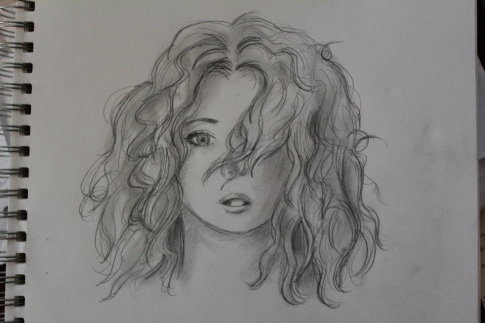 Curly Hair Sketch by PatchesVonGore on DeviantArt