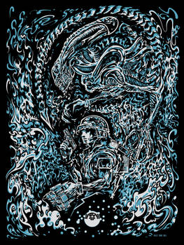 Screenprint: Aliens / Vox Nihilis