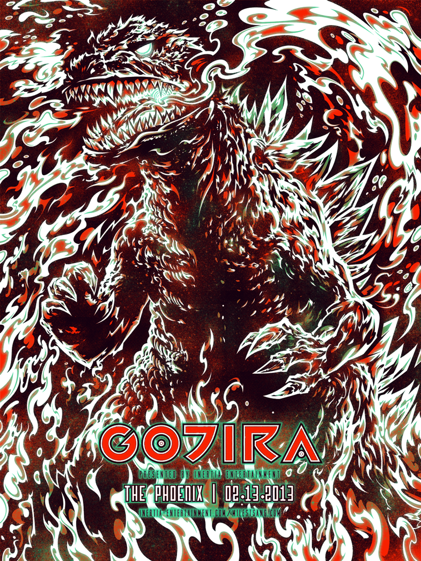 Screenprint gojira by milestsang on deviantart - Gojira band wallpaper ...