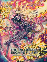 Screenprint: The Dillinger Escape Plan by milestsang