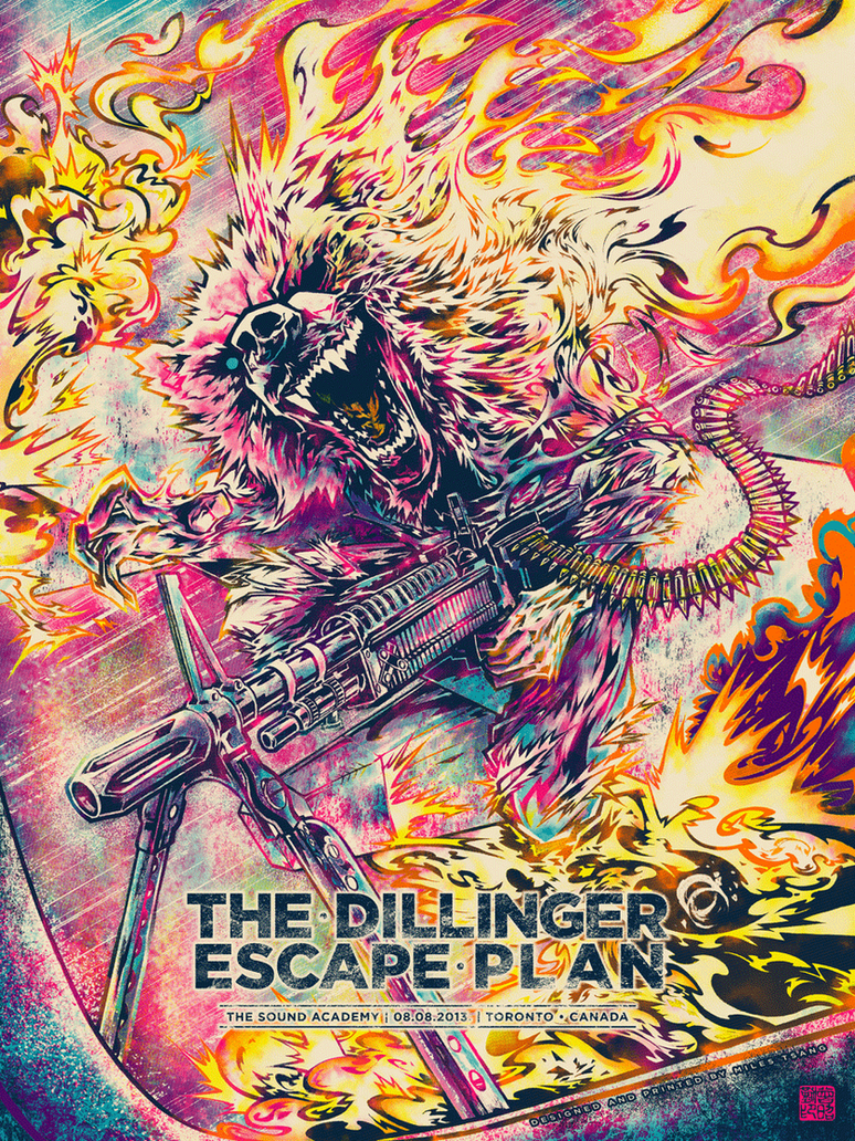 Screenprint: The Dillinger Escape Plan by milestsang