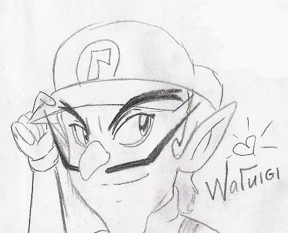 Waluigi sketch by ShadowWaluigi1826