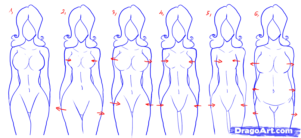 How to draw female figures draw female bodies step by the bloody how to draw female figures draw female bodies ccuart Gallery
