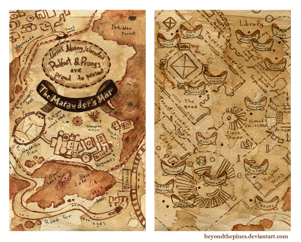 Must see Wallpaper Harry Potter Iphone 6 - marauder_s_map_by_beyondthepines-d7vsmd6  Perfect Image Reference_19603.png