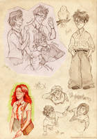 HP sketches by BeyondThePines
