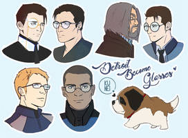 Detroit Become Glasses! by SpKunei