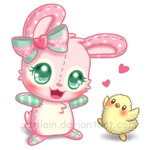 FREE Strawberry Bunny Snuggly (Page Doll)